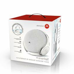 New Motorola Wireless Speaker & Headphones Sphere+ 2-In-1