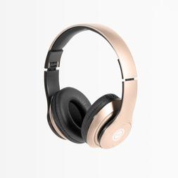Rose Gold Wireless Over-the-Ear Bluetooth Headphones Foldabl