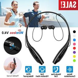 Running Sports Headphones Headset Neckband Magnetic Stereo E