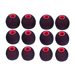 Sunmns 6 Pairs Silicone Eartips Eargels Earpads Ear Tips Gel