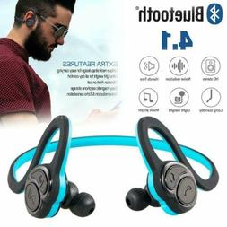 stereo noise cancelling wireless bluetooth earbuds earphones