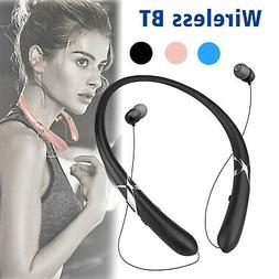 Sweatproof Stereo Neckband Headset Wireless BT 5.0 Retractab