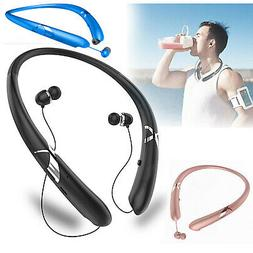 Sweatproof Stereo Neckband Headset Wireless Bluetooth 5.0 Re