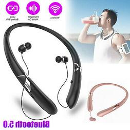Sweatproof Stereo Neckband Headset Wireless Bass Earbus Retr
