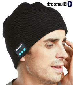 XIKEZAN Unisex Knit Bluetooth Beanie Hat Headphones V4.2 + c