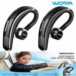 Mpow V4.1 Bluetooth Headset Wireless Earbud Car Earpiece Hea