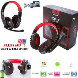 V8 Wireless Bluetooth Gaming Headset With Mic Headphone For
