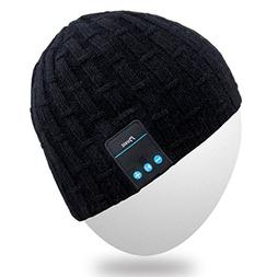 Rotibox Washable Winter Men Women Hat Bluetooth Beanie Runni
