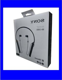 Sony WI-C400 Wireless Headphones black Bluetooth Mic Microph