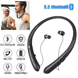 Wireless Bluetooth 5.0 Sweatproof Stereo Neckband Headset Re