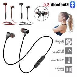 Wireless Bluetooth Headphones Earphones Gym Headset With Mic