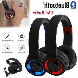 Wireless Bluetooth Headphones Over Ear Stereo Super Bass Ear