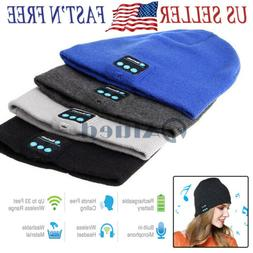 Wireless Bluetooth Headset Beanie Hat Music Headphones Earph