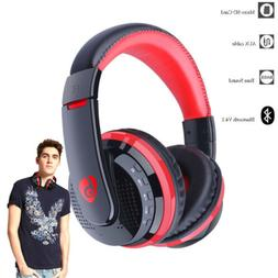 Wireless Bluetooth Headset Stereo Headphone W/Mic Over-Ear f