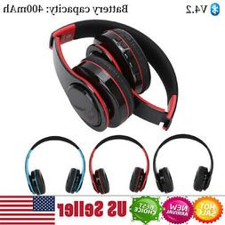 Wireless Bluetooth Stereo Headphones Over Ear Noise Cancelli