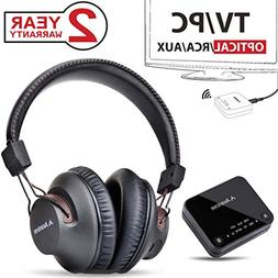 2018 Avantree HT4189 Wireless Headphones for TV Watching & P