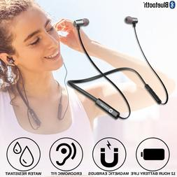 Wireless Bluetooth Headphones Earbuds Sweatproof Neckband He