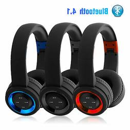 Wireless Headphones BT Headset Noise Cancelling Over Ear wit