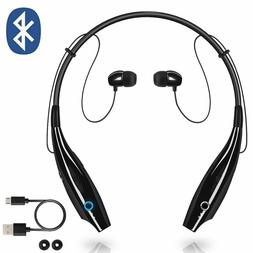 Bluetooth Neckband Wireless Headphones Mic Headset Stereo Ea
