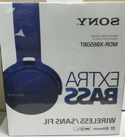 Sony XB650BT Extra Bass Bluetooth Headphones - Stereo - Blue